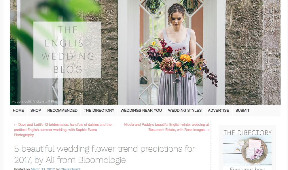 Bloomologie english wedding blog