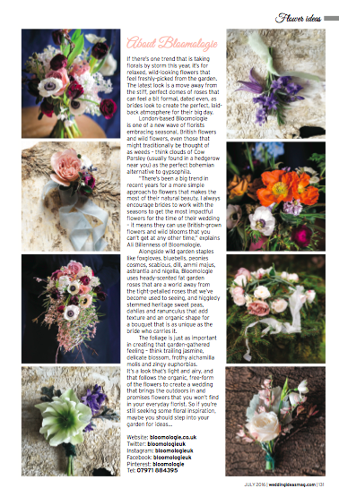 Bloomologie Wedding Ideas magazine 2