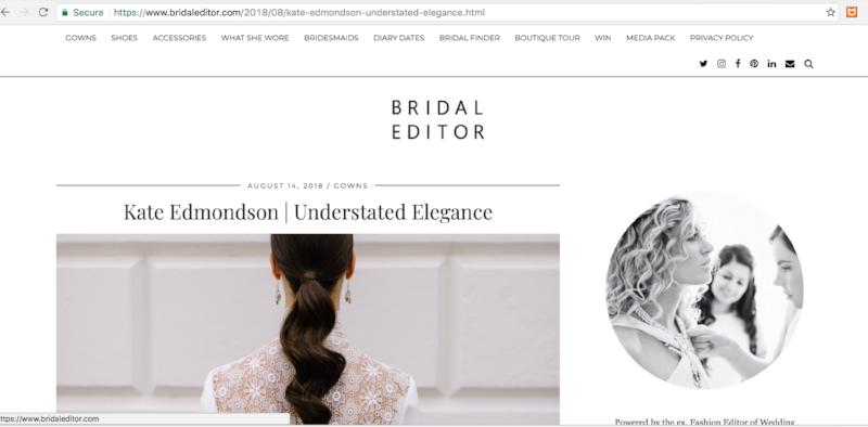 Bridal Editor Bloomologie