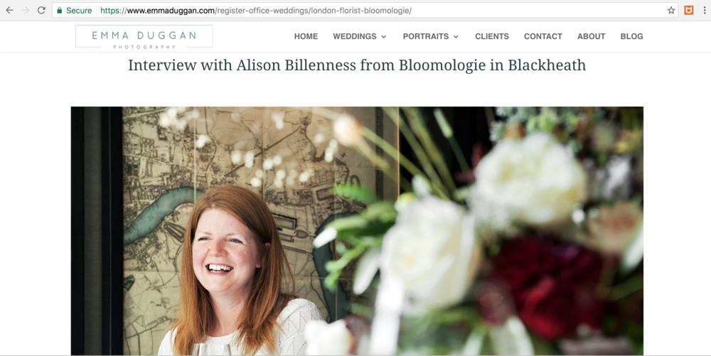 Bloomologie flowers Emma Duggan