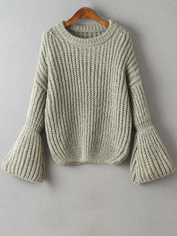 Bell Sleeve Chunky Sweater $19.99