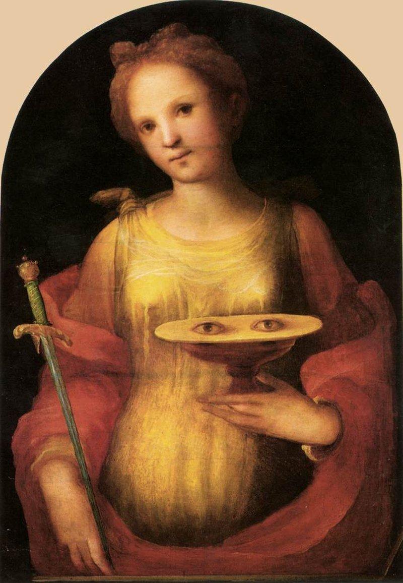 Люсии 15го века.Жутенькая картина.Источник: 4*