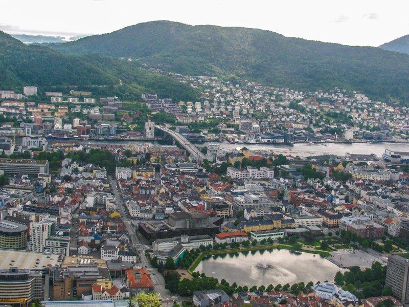 Вид на самый центр города
