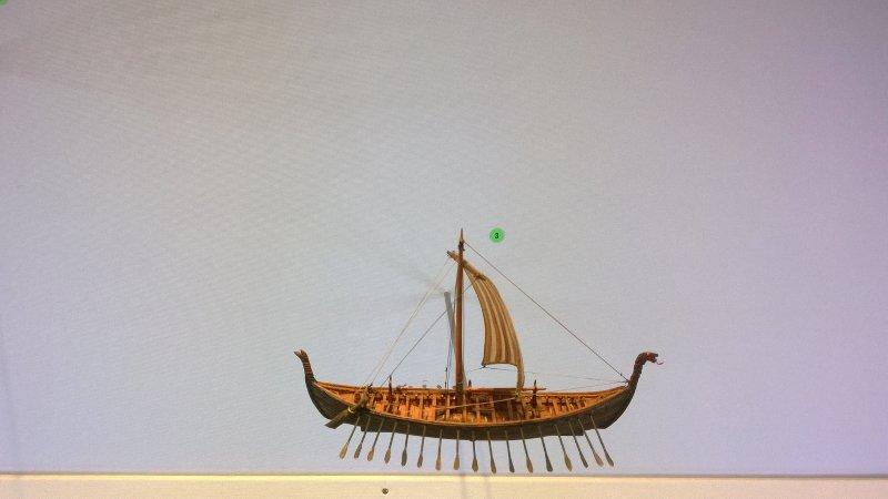Вот древняя ладья викингов