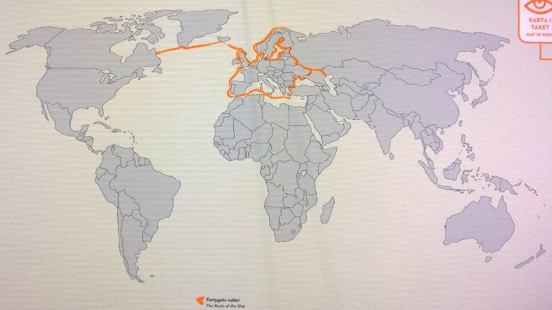 И вот куда на ней плавали тысячу лет назад.Не только из варяг в греки, но и в Исландию, Гренландию и Америку