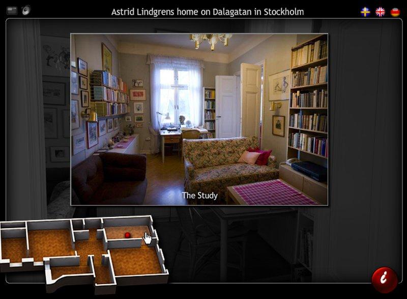План квартиры Астрид Линдгрен на Далагатан
