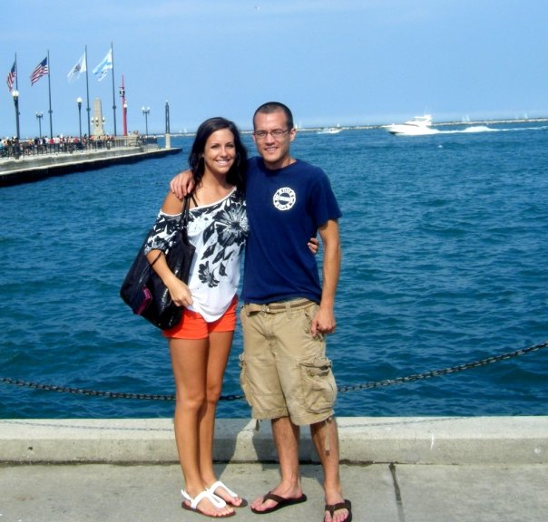 A summer trip to Chicago to visit my brother while I was in high school. Look at my lil baby toothpick legs!