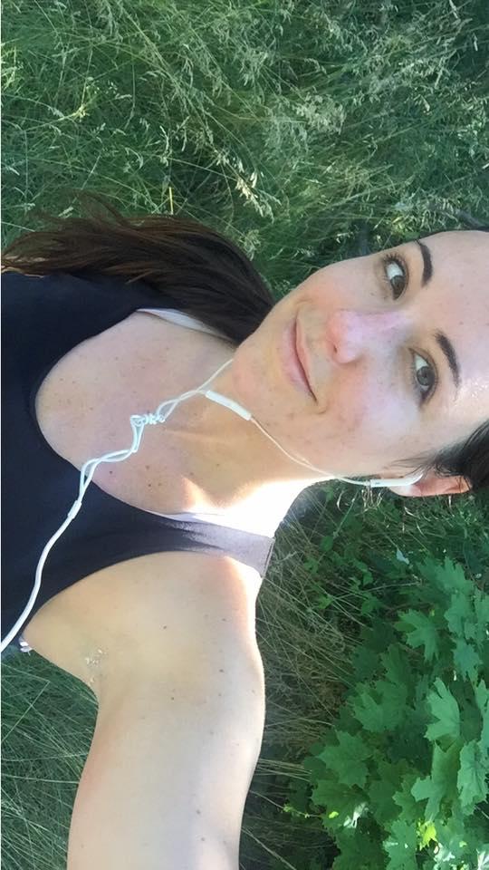 Post-run selfie. Must be the runner's high haha