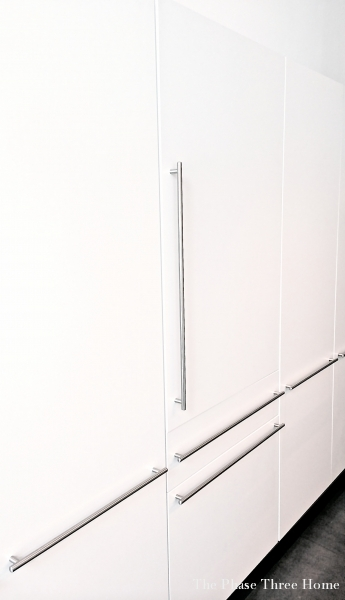 GE Design Center Integrated Refrigerator with Convertible Lower Drawer