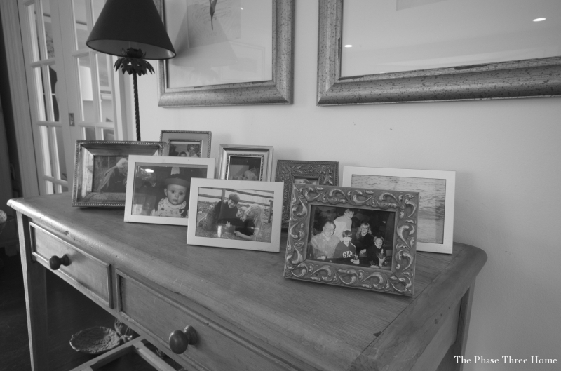 Table Top Framed Photo Arrangement-Before