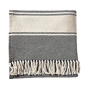 Serena & Lilly's Serena & Lilly's Brahams Mount Banded Herringbone Throw in Black
