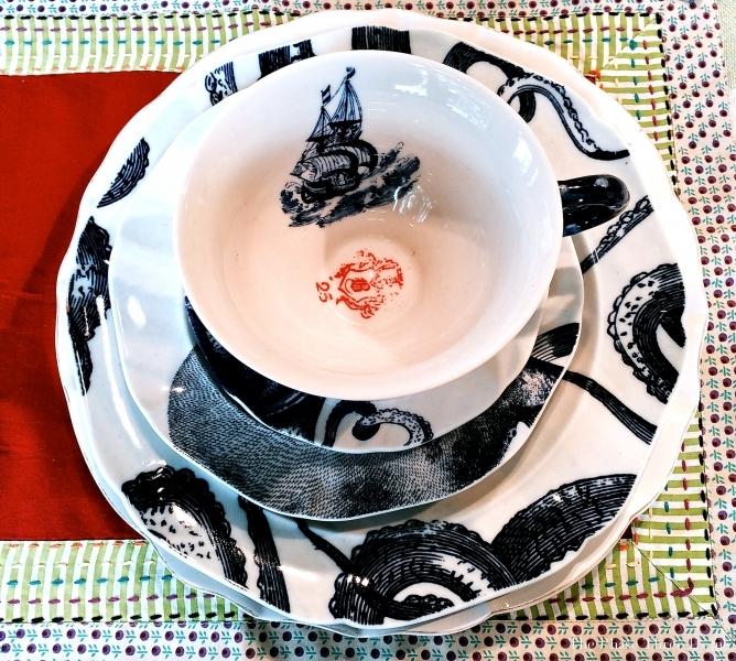 Anthropology's nautical inspired dinnerware