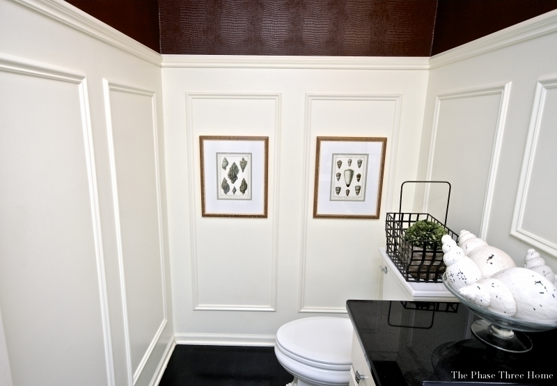 Norwich Ct powder room, renovated w/ wainscoting