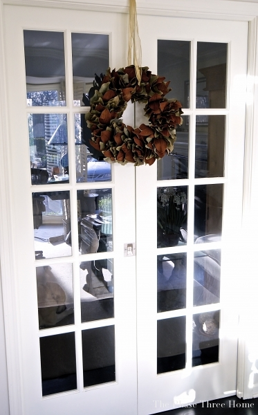 Fall Wreath with French Doors