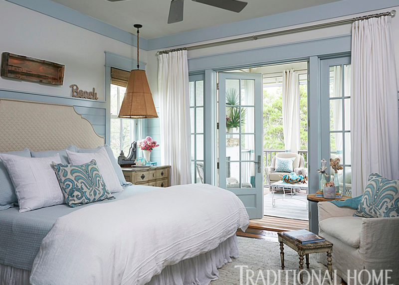 empty nester seaside second home-bedroom