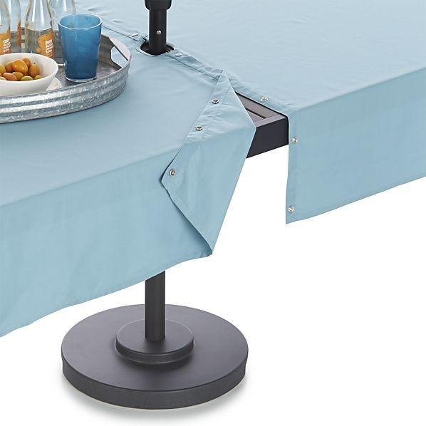 crate and barrel outdoor--mineral-blue-umbrella-tablecloth