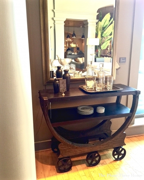 Restoration Hardware bar cart-industrial