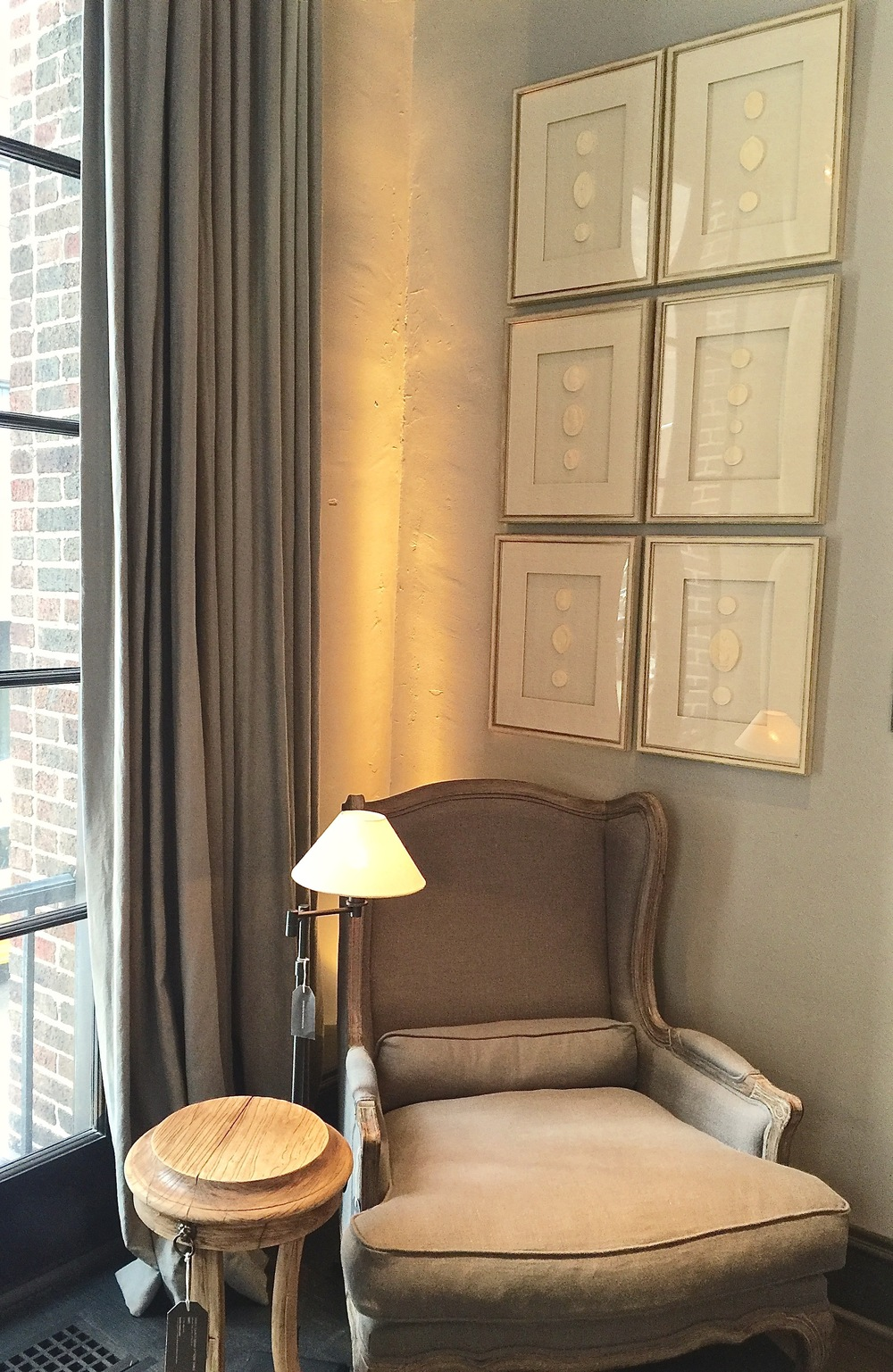 restoration hardware chicago, bergere chair vingnette, the phase three home.jpg