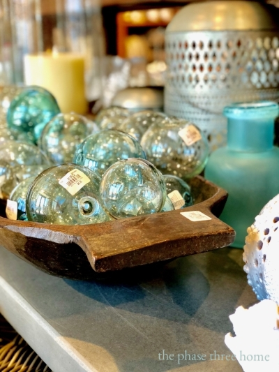 pottery barn glass balls