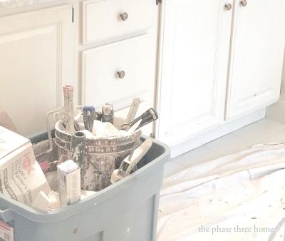 repainting bathroom vanitites