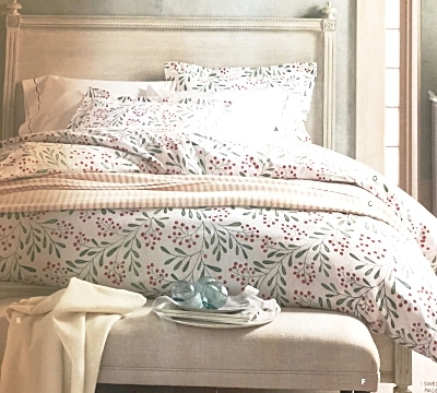 Winterberry Flannel Bedding, Photo: Garnet Hill