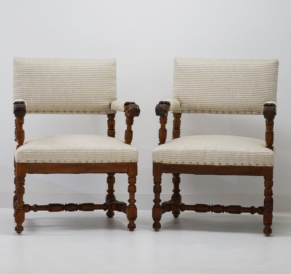 Square Back Oak Chairs