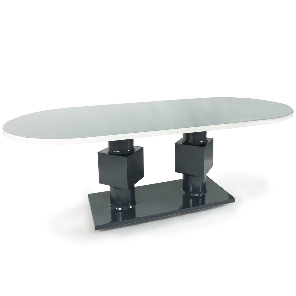 Oval Dining Table with Double Pedestal Base. roundsquares_angle.jpg  sc 1 st  The Tailored Home. & Oval Dining Table with Double Pedestal Base - The Tailored Home.