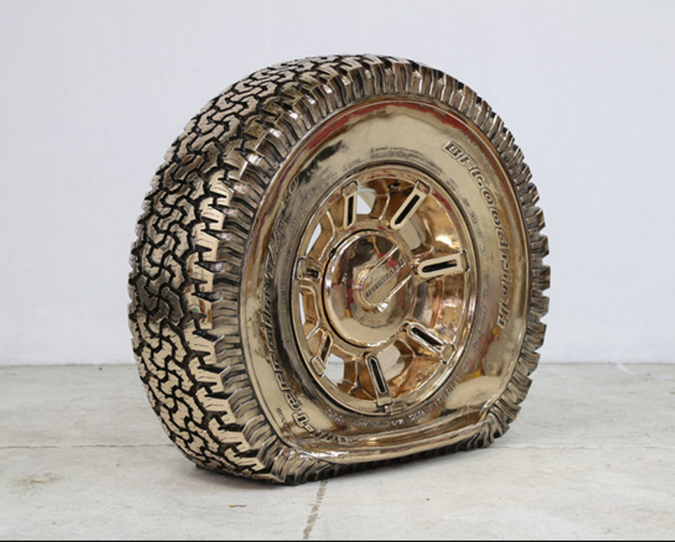 Ry Rocklen , Untitled Hummer Flat, 2014