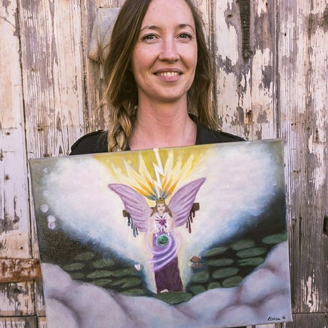 I made a painting! ⚡ Doing Make Your Visions Real with @stephanie.rose.freeman was the best damn workshop experience everrrrrr. ✨ (Seriously, go check out the link from her bio if you're in Melbourne and want to make a magical painting yourself). ⚡️ I can now use oils (goodbye forever, acrylics!!!) and have so many ideas for paintings - plus the CONFIDENCE to actually make them. 🎨 I'll be offering astro-themed artworks to a few special clients this year... ✨  So jazzed about it all that I even made my first insta story. But couldn't figure out how to make it work properly... 😂#BadMillennial #HappyArtist