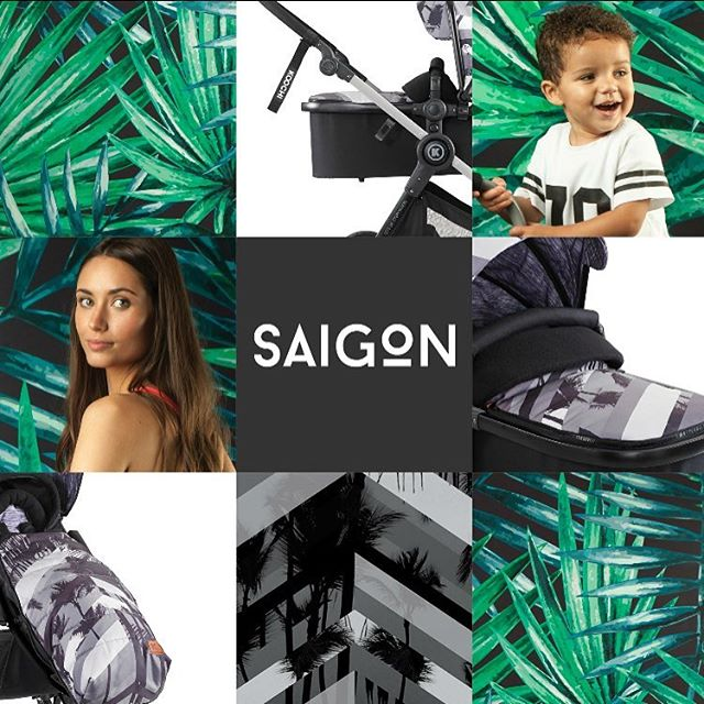 Feel the exotic energy with our second pattern Saigon, where tropical palms meet edgy monochrome.  Love it? Like it!