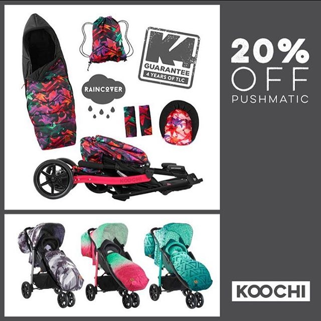 There's 20% off our Pushmatic for the whole of January! Head to www.koochi.co.uk