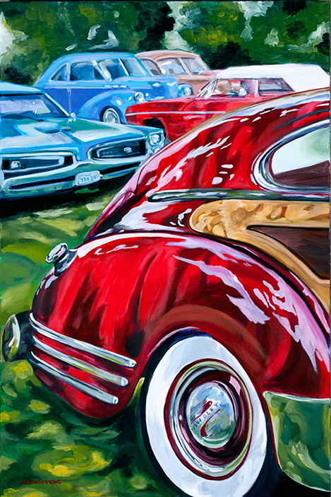 Fleetline in Dappled Sunlight, 1948 Chevy Fleetline