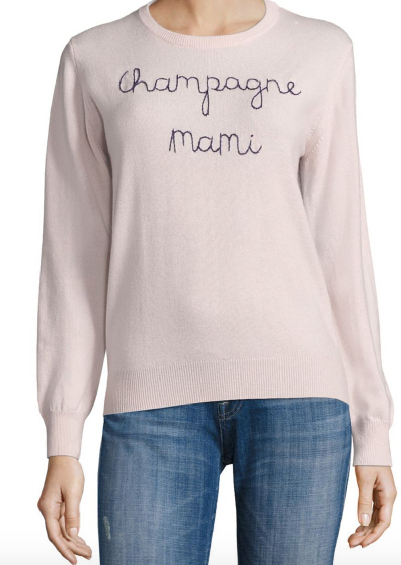 Champagne Mami Cashmere Sweater by Lingua Franca at Saks