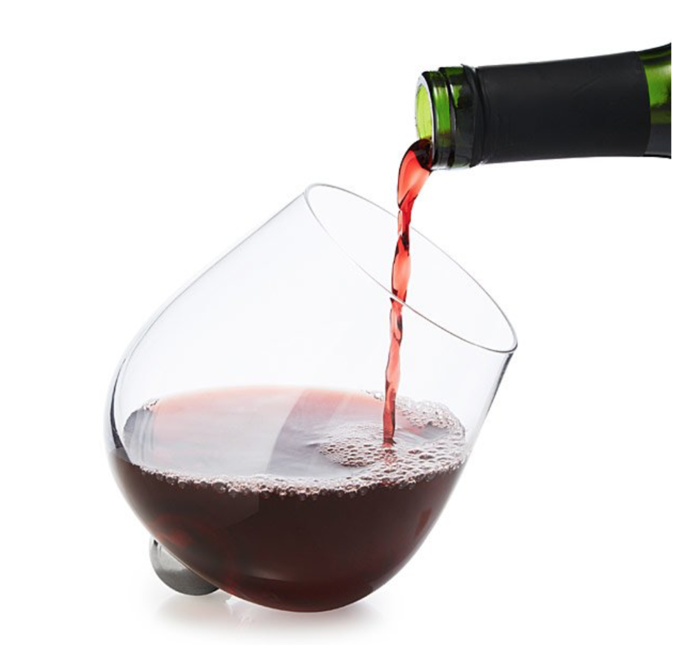 Rotating Aerating Wine Glass Set by Uncommon Goods