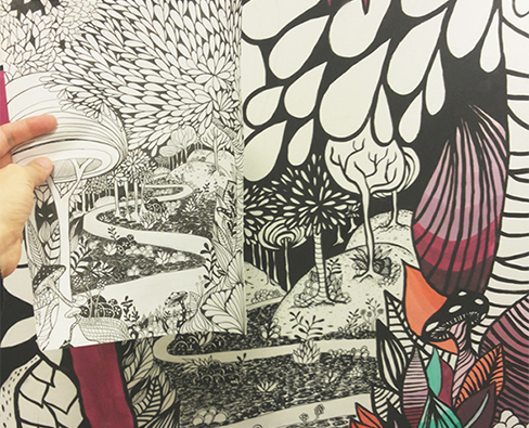 WALL PAINTING - DEEP FOREST