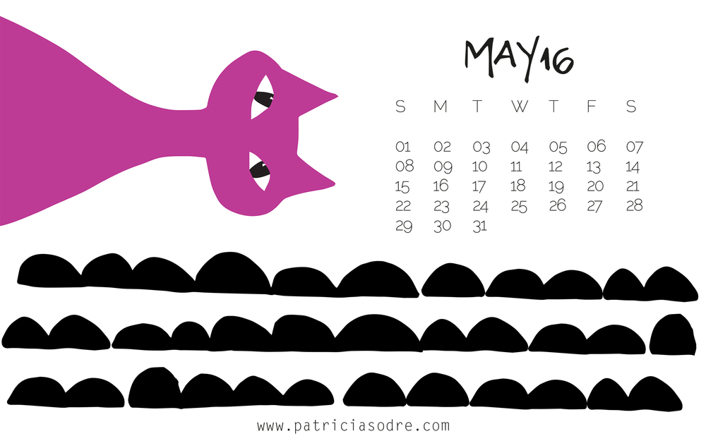 CALENDAR MAY '16 - DESKTOP WALLPAPER Click on the image above to open the large file and save. Then you set to your desktop wallpaper :)