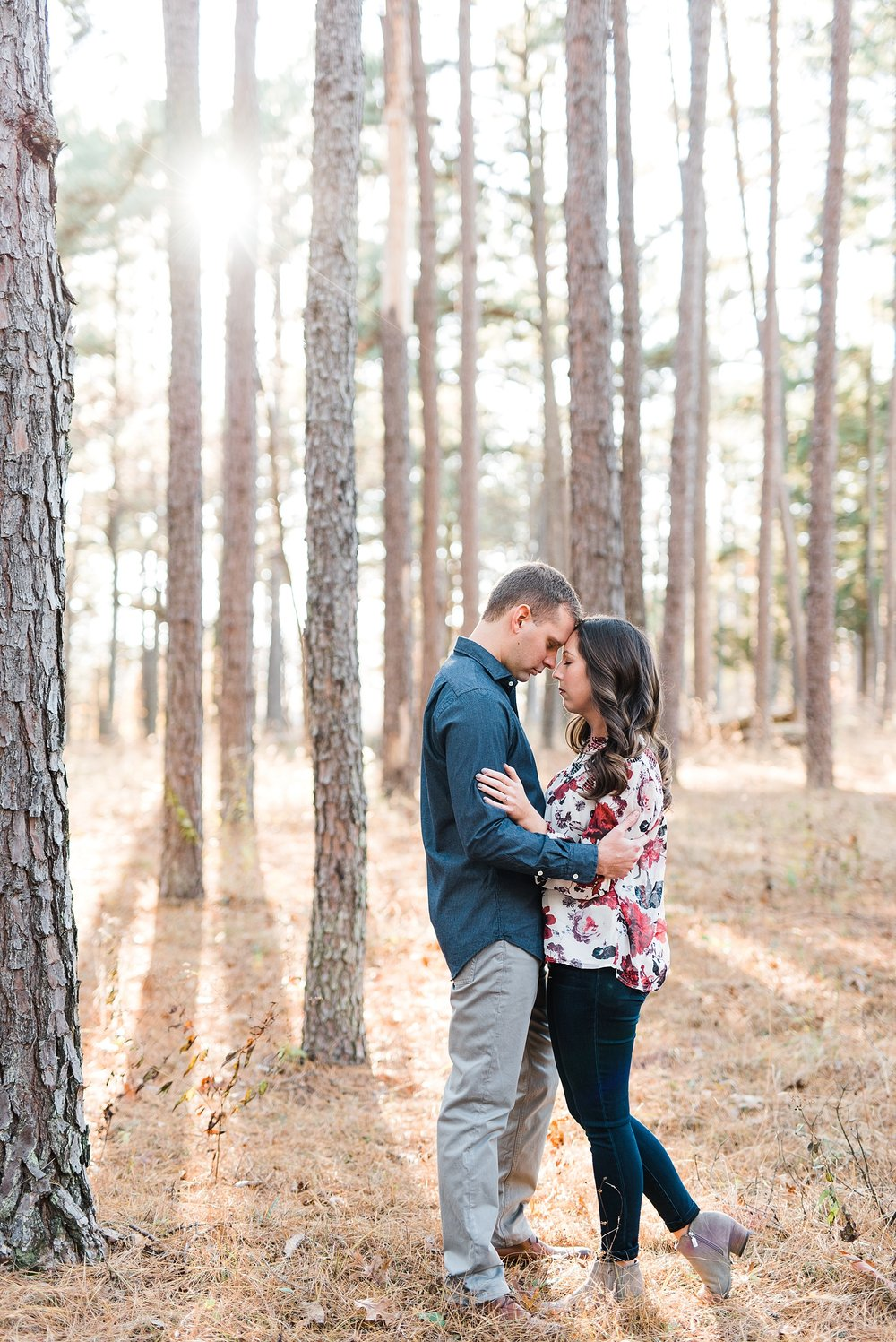 Mid-Missouri Fall Engagement In Pines_0050.jpg