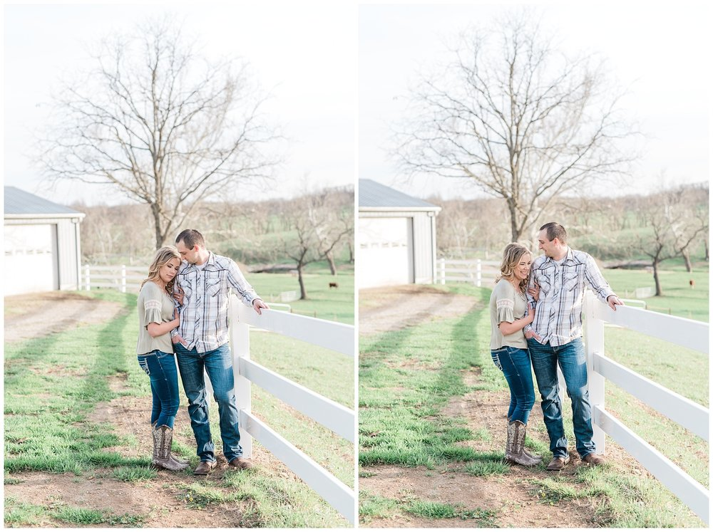 Spring Sunset Farm Engagement Session on Family Farm in Missouri Midwest by Kelsi Kliethermes Photography_0009.jpg