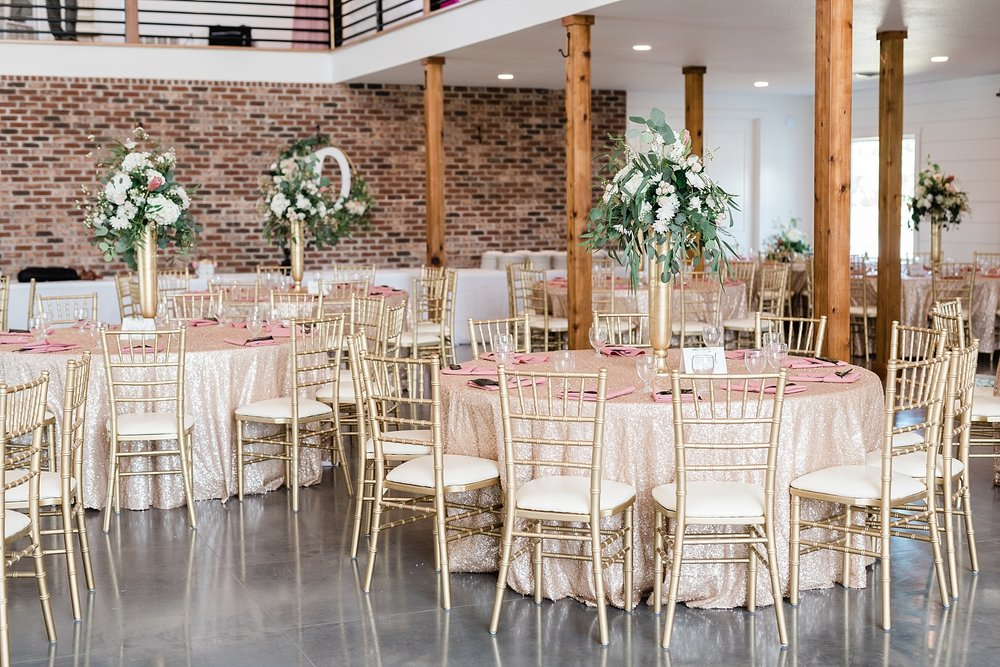 Stunning Heartfelt, Elegant, Fine Art, Chic, Outdoor Spring Wedding with Blush, Cream, Greenery, Rose Gold, and Sequins at Emerson Fields Venue by Kelsi Kliethermes Photography_0038.jpg