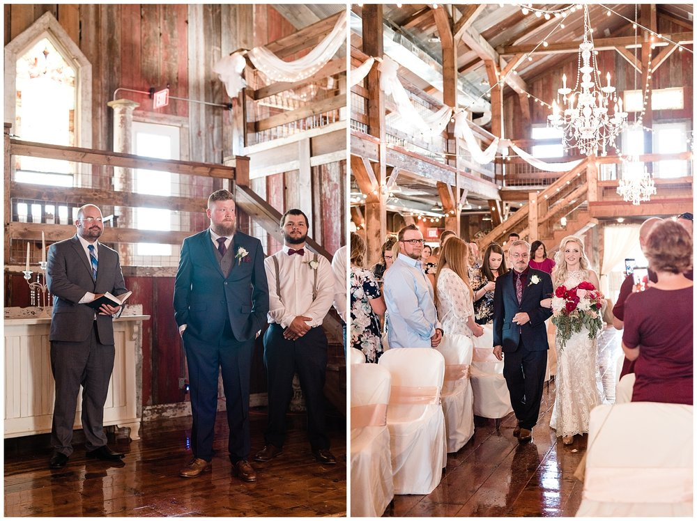 Light and Airy Spring Shabby Chic Wedding at Bessie's Barn Iowa by Kelsi Kliethermes Photography_0007.jpg