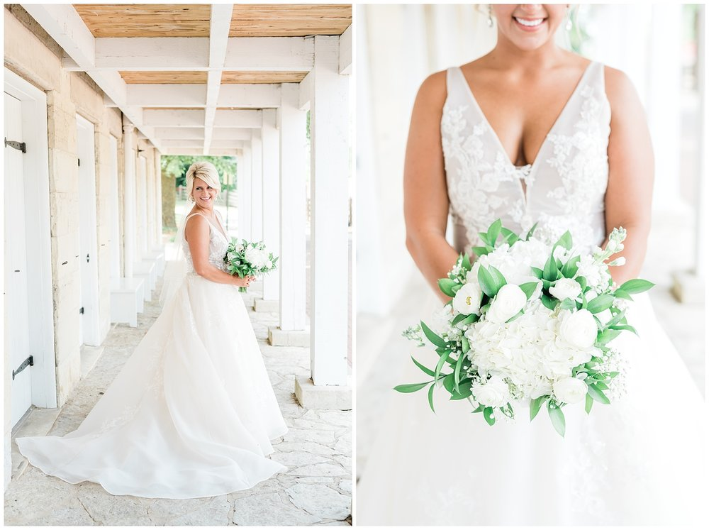 Rose Gold, White, and Greenery High Class Summer Wedding at The Millbottom in Downtown Jefferson City by Kelsi Kliethermes Photography_0004.jpg