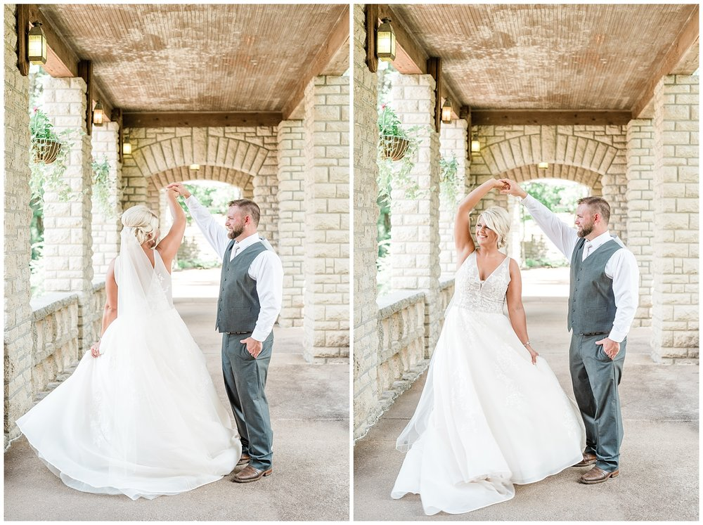 Rose Gold, White, and Greenery High Class Summer Wedding at The Millbottom in Downtown Jefferson City by Kelsi Kliethermes Photography_0003.jpg