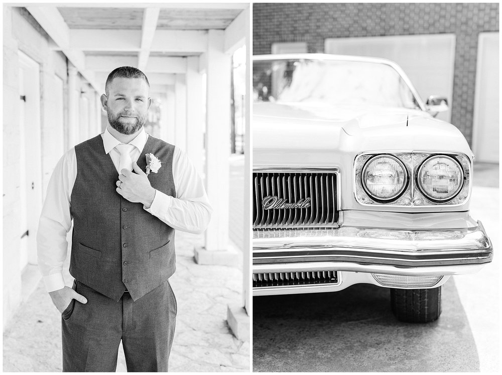 Rose Gold, White, and Greenery High Class Summer Wedding at The Millbottom in Downtown Jefferson City by Kelsi Kliethermes Photography_0007.jpg