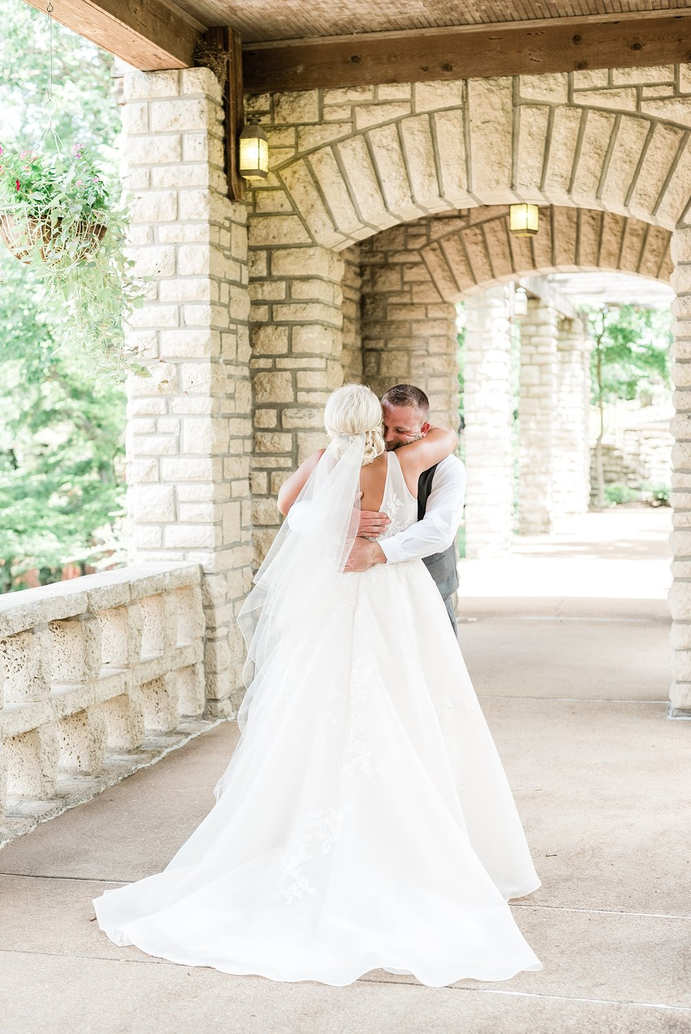 Rose Gold, White, and Greenery High Class Summer Wedding at The Millbottom in Downtown Jefferson City by Kelsi Kliethermes Photography_0018.jpg