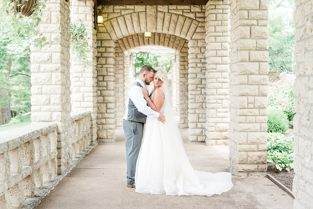 Rose Gold, White, and Greenery High Class Summer Wedding at The Millbottom in Downtown Jefferson City by Kelsi Kliethermes Photography_0019.jpg