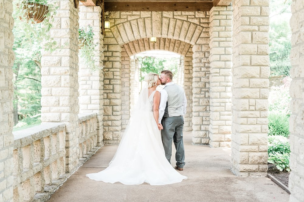 Rose Gold, White, and Greenery High Class Summer Wedding at The Millbottom in Downtown Jefferson City by Kelsi Kliethermes Photography_0022.jpg