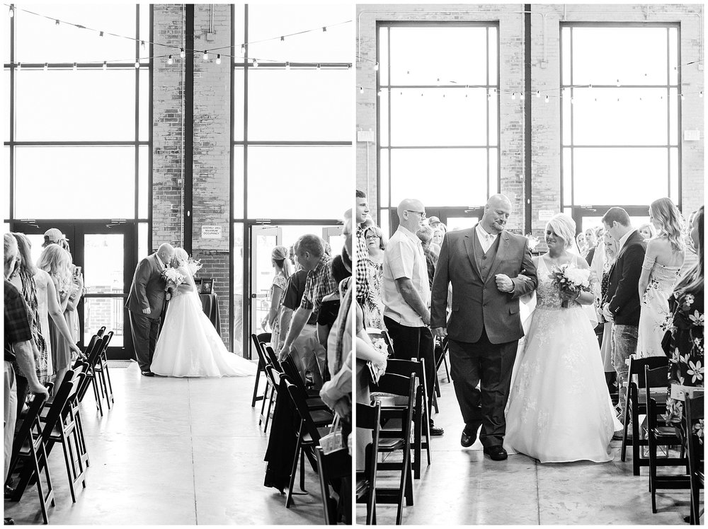 Rose Gold, White, and Greenery High Class Summer Wedding at The Millbottom in Downtown Jefferson City by Kelsi Kliethermes Photography_0030.jpg