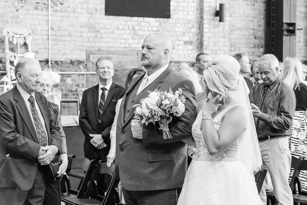 Rose Gold, White, and Greenery High Class Summer Wedding at The Millbottom in Downtown Jefferson City by Kelsi Kliethermes Photography_0038.jpg