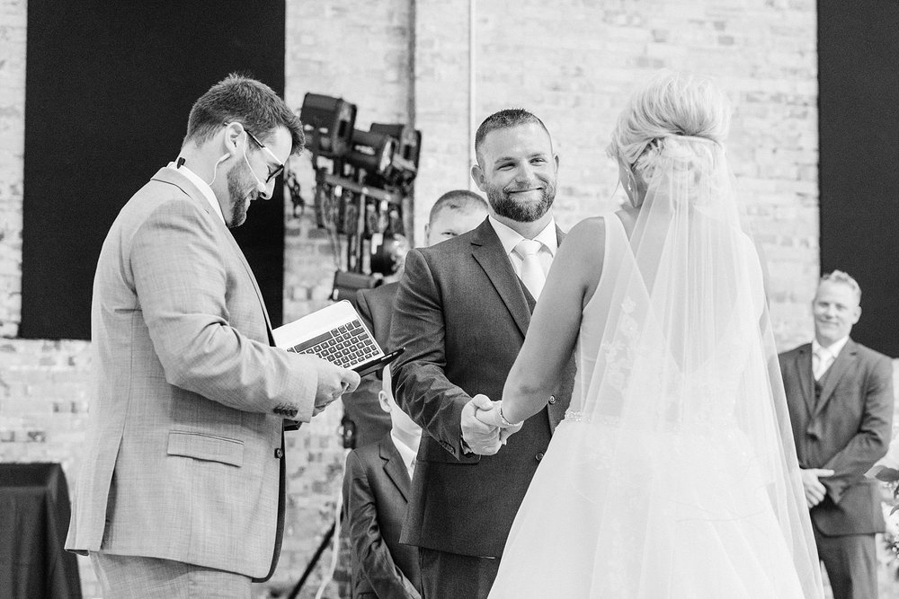 Rose Gold, White, and Greenery High Class Summer Wedding at The Millbottom in Downtown Jefferson City by Kelsi Kliethermes Photography_0042.jpg
