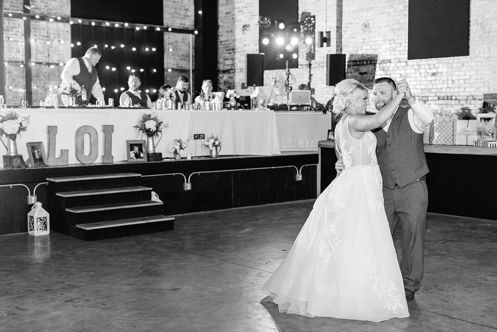 Rose Gold, White, and Greenery High Class Summer Wedding at The Millbottom in Downtown Jefferson City by Kelsi Kliethermes Photography_0050.jpg